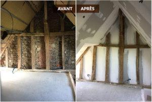 rénovation de combles avant /après